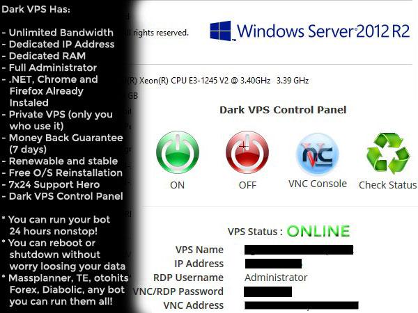 dark vps cheapest rdp full administrator