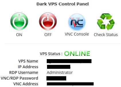 Dark VPS Cpanel